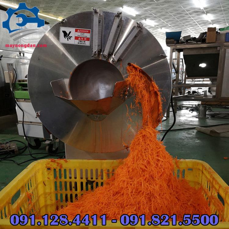 Máy cắt sợi rau củ quả công nghiệp, năng suất lớn