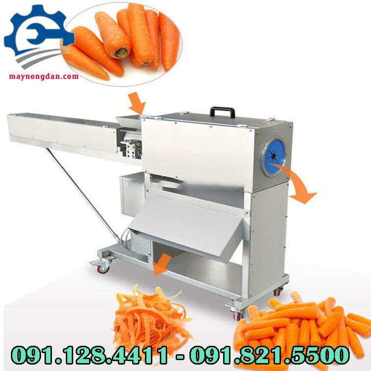 Máy gọt vỏ cà rốt công nghiệp